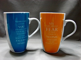 Set of 2 Whimsical Middle Age /PMS  Mugs for Women  - $11.99