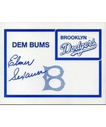 ELMER SEXAUER - Brooklyn Dodgers - Autograph on Dodger glossy card - $6.43