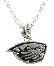 An item in the Sports Mem, Cards & Fan Shop category: Oregon State Beavers Silver Necklace Jewelry OSU Officially Licensed