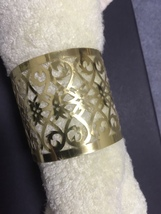 150pcs Gold Napkin Rings,Metallic Paper Towel Wrappers,Table Decorations  - $51.00