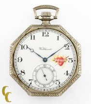 Nickel Octogon Waltham Antique Open Face Pocket Watch Gr 210 12S 7 Jewel - $181.53