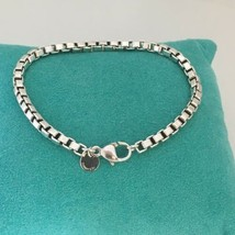 "9"" Tiffany & Co Large Mens Unisex Sterling Silver Venetian Box Link Brac... - $249.00"