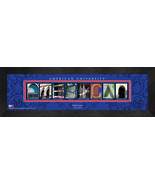 Personalized American University Campus Letter Art Framed Print - $39.95