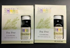 2x Aura Cacia Pure Essential Oil Tea Tree - 0.5 Fl Oz - Cleansing - $15.99