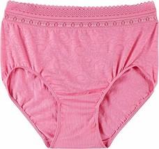 Bali Comfort Revolution Microfiber Brief, Pink Dahlia Swirl, 6/7 - $9.41