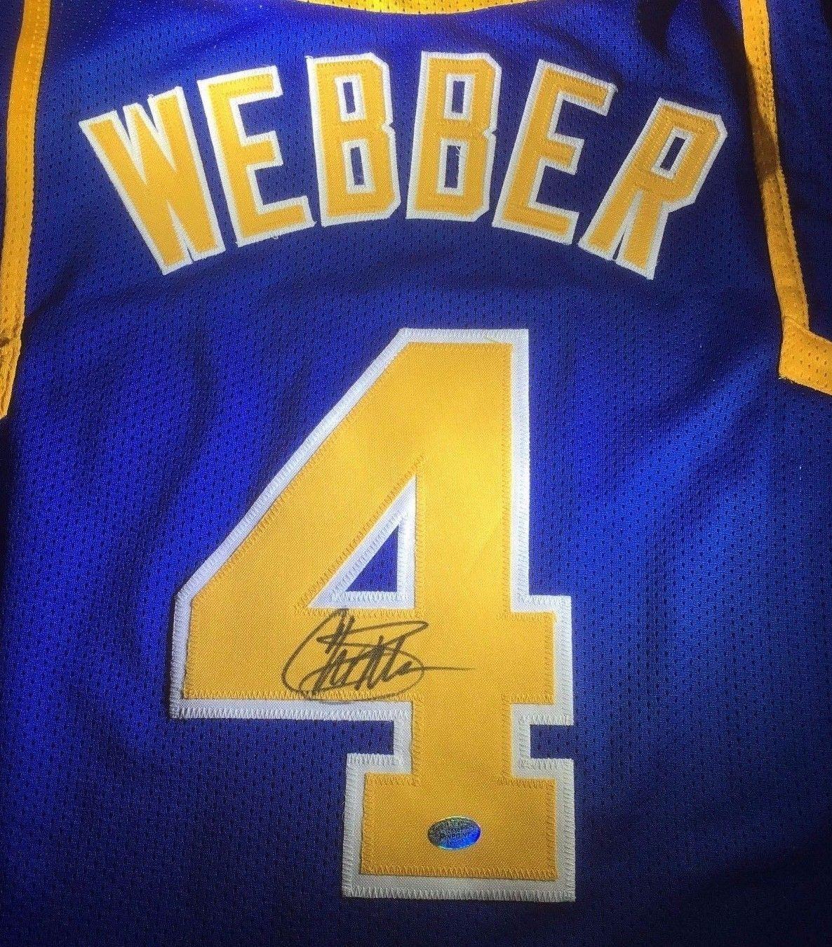 best loved 67140 c2bcf CHRIS WEBBER - NBA ALL STAR - HAND SIGNED MICHIGAN WOLVERINES CUSTOM JERSEY  COA