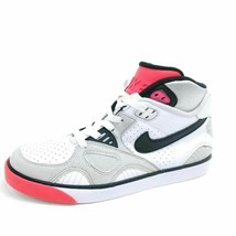 Nike Youth 6.5 Auto Trainer Sneakers White Gray Lace Up 407916-100 High Top - $25.00