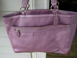 COACH Large TOTE BAG Penelope Pebbled Leather Medium Lavender / Purple 1... - $128.69