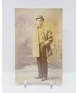 Vintage Postcard RPPC ? Vintage Photo of man standing in suit  - $7.70