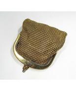 Vintage Whiting & Davis Co Mesh Purse Gold Tone C2822 - $26.03