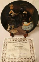 1983 Norman Rockwell's The Storyteller Collectible Plate Knowles China Society - $14.85