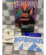 Vegas Casinò 2 Computer Video Gioco Commodore 64/128 IBM PC 5.25 Disco - $26.03