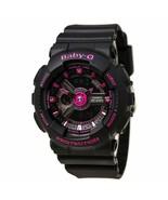 New Casio Women's Baby-G Analog-Digital Display Quartz Black Watch BA111... - $112.16