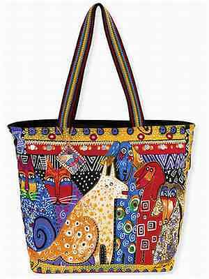 "NWT Laurel Burch LARGE Yellow A Brighter Place Dog Tote Dog Cat  20""x15"" New"