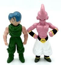 "Bandai DBZ Dragonball Z Majin Kid Buu (1996) loose action figure 3.5"" & Trunks - $6.92"