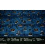 VINTAGE TRANSFORMERS TWIN FLAT SHEET MEGATRON BLUE BOYS BEDDING BED OR F... - $18.70