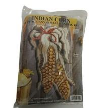 Vintage Indian Corn Plastic Canvas Kit NIP Design Works 7x13 Thanksgiving Autumn - $13.60