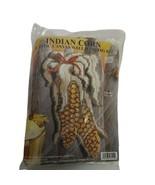 Vintage Indian Corn Plastic Canvas Kit NIP Design Works 7x13 Thanksgivin... - $13.60