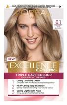 L'Oreal Excellence NATURAL ASH BLONDE Permanent Hair Dye Colour GREY COV... - $17.53