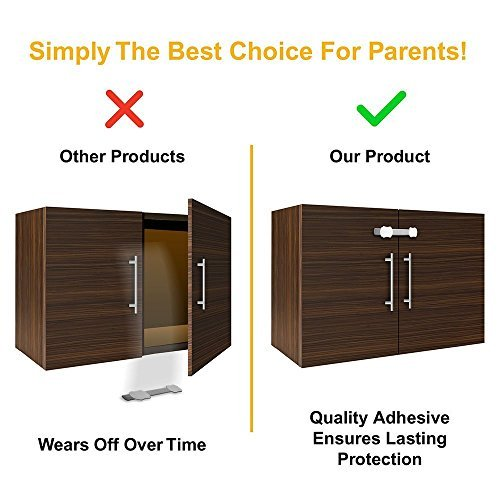 Skyla Homes - Child Safety Cabinet Locks (8-Pack) | No Tools | Baby & Child Proo
