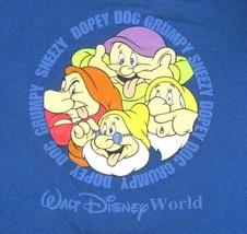 Disney World Vtg Shirt Snow White Seven Dwarfs Dopey Grumpy Doc Medium Adult - $15.95