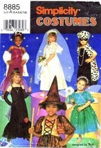 Simplicity 8885 Sewing Pattern Girls Costumes Dress Up Witch Fairy Movie... - $15.19