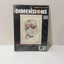 "United Hearts Wedding Record Cross Stitch Kit Dimensions 5"" x 7"" - $9.74"
