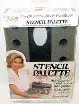 BRAND NEW Stencil Magic by Delta Stencil Palette to Use w/Paint Cremes & Brushes - $11.65