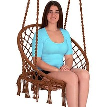 Ebung Macramé Hammock Chair Hanging Swing Seat – Elegant and Classy Knotted - $78.01