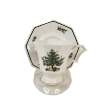 Vintage Nikko Christmastime Classic Collection Footed Tea Cup and Saucer Japan - $9.99