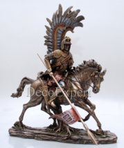 Unique Polish Gift Hussar Winged Cavalry Bronze * * * Free Air Shipping - $139.00