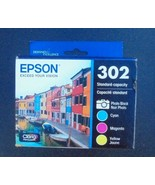 Genuine Epson 302 Photo Black & Color Ink Cartridges 2022 Cyan Magenta ... - $37.39