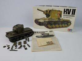 Vintage 1972 Tamiya 1:35 Russian Heavy Tank KV-II Mostly Built unglued c... - $46.74