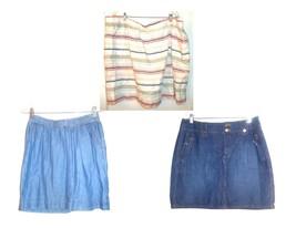 Sonoma Above Knee Denim Skirts & Linen Blend Skirts some NWT Sizes 4 - ... - $21.37+