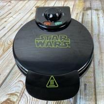 Star Wars Electric Iron Waffle Maker Black Darth Vader Griddle Tested WORKS - $14.24