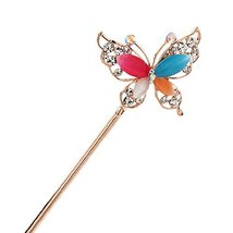 Rhinestone Butterfly Retro Women Girls Hair Pin Hair Stick - $14.37