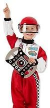 Melissa & Doug Race Car Driver Role Play Costume Set (3 pcs) - Jumpsuit, Helmet, - $28.66