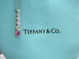 Tiffany & Co Platinum Jazz Graduated Diamond Sapphire Pendant - $2,227.50