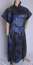 RARE VTG 70's Kenzo Paris Floral Brocade Iridescent Silk Blend Dress M - $398.99
