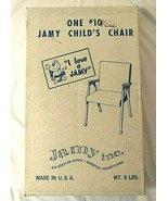 Vtg Retro Orange CHILD CHAIR Vinyl Cushions JAMY Mid-Century NEW Metal L... - $105.15