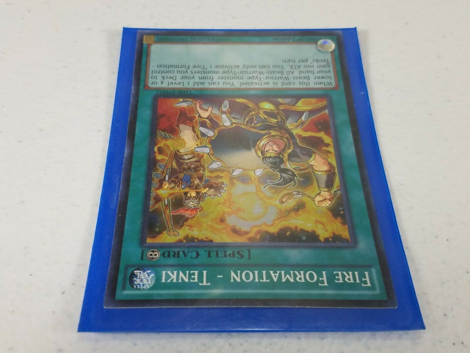 Yu-gi-oh! Trading Card - Fire Formation - Tenki - THSF-EN057  Super Rare 1st Ed.
