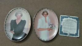 """2 Princess Diana Plates & One Certificate. Limited. """"Diana Queen of Our Hearts"""" - $29.99"""