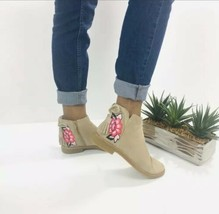 Kate Spade New York Bellville Floral Embroidered Suede Desert Booties Size 7.5 - $135.45