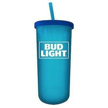 Bud Light 20 Ounce Cup With Straw And Lid Blue - $17.98