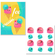 Pin the Ice Cream on the Cone Birthday Party Game - £17.17 GBP