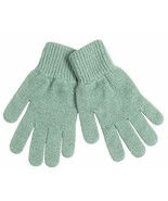 NWT Johnstons of Elgin 100% Cashmere Gloves, Made In Scotland, Mint Green - $29.53