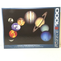 EuroGraphics NASA The Solar System 1000 Piece Jigsaw Puzzle Complete - $21.88