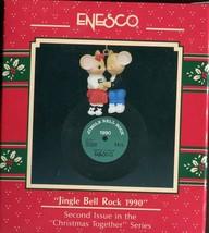 1990 New in Box - Enesco Christmas Ornament - Jingle Bell Rock 1990 - #563390 - $8.90