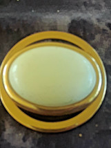 STUNNING VINTAGE ESTATE SIGNED AVON WHITE & GOLD TONE ROUND DIMENSIONAL ... - $3.00