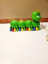 2001 Leapfrog Green Caterpillar Musical Alphabet Pal-Great Educational Toy!! - $24.74